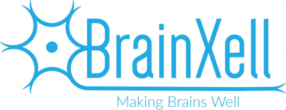 Logo that says BrainXell: making brains well