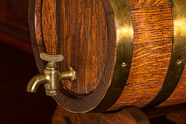 A close up of a tap on a beer barrel