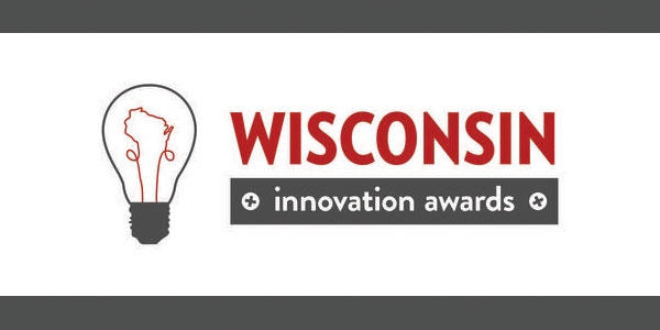 Logo that says Wisconsin Innovation Awards with lightbulb icon