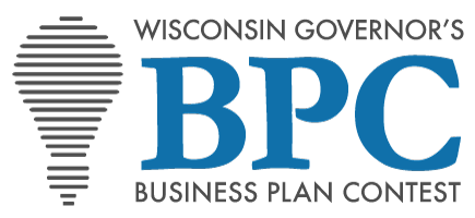 Logo that says: Wisconsin Governor's Business Plan Contest with a lightbulb icon and the abbreviation BPC