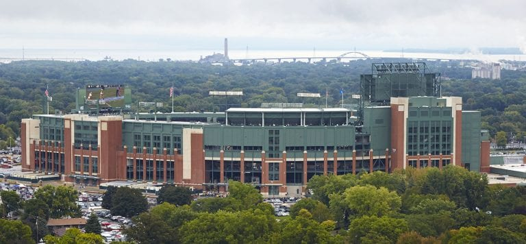 Photo of Lambeau Field exterior from afar