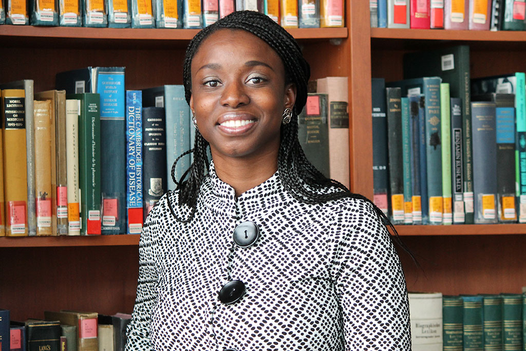 Olufunmilola Abraham, assistant professor in the School of Pharmacy's Social and Administrative Sciences Division.