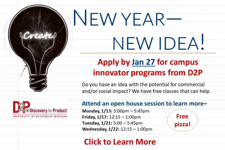 Graphic that says New Year, New Idea- attend a January Open House. Click to Learn more.