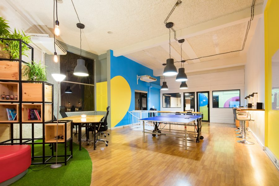 Photo of a startup workspace